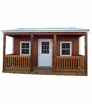 Urethane Side Porch Cabin